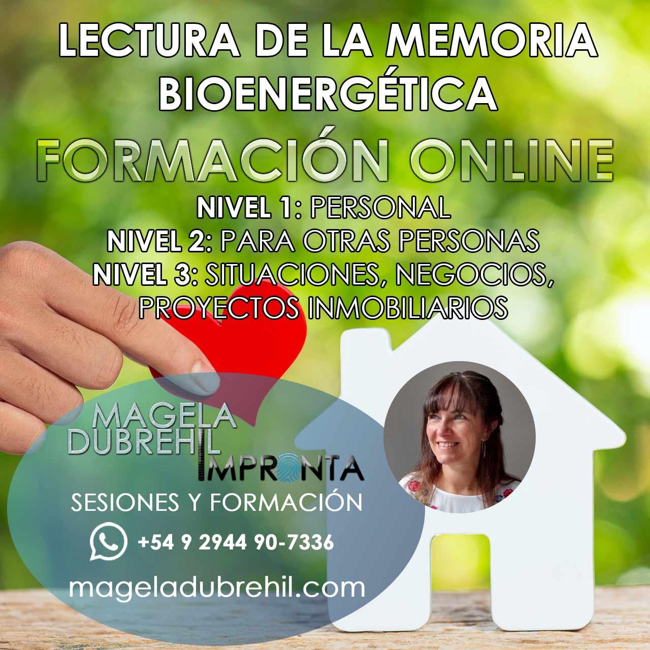 LECTURA DE MEMORIA BIOENERGETICA FORMACIÓN ONLINE NIVELES I, II y III